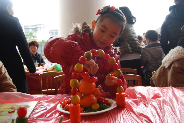 划迎新年 缤纷水果展示会 幼教拓展营亲子活动小结