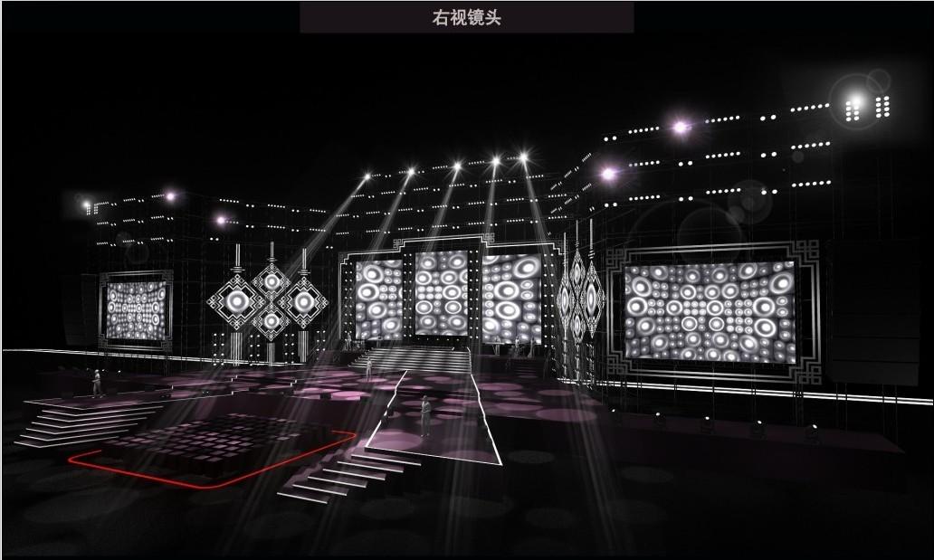 凯华30周年庆典暨答谢晚宴舞台3d设计