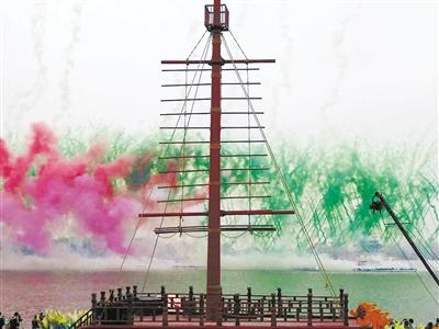 """圆明新园全程策划""""世界最大的水上庙会""""大型活动"""