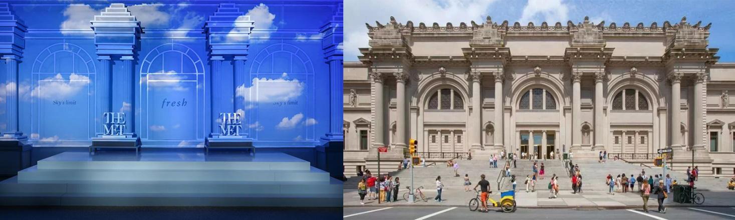 馥蕾诗新品发布会策划展厅被设计成大都会博物馆